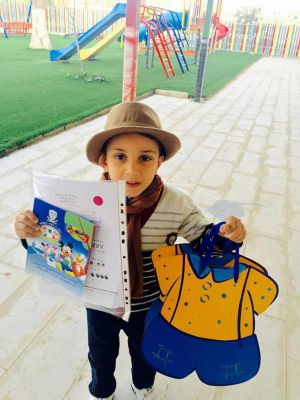 Delivery of the end of the first semester of kindergarten children certificates