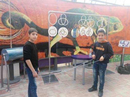 Educational trip to the Museum of Mathematics and Science at Al-Quds University